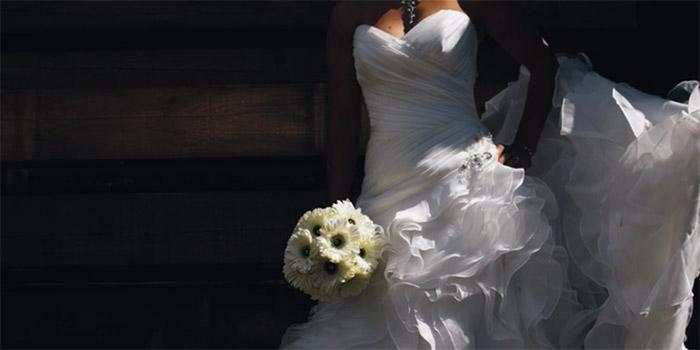 wedding dress bride green wedding