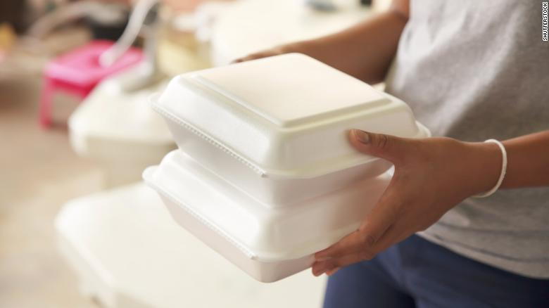 styrofoam take-out containers